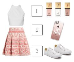 """""""123 Girl Power"""" by monique-joanne ❤ liked on Polyvore featuring Alexander McQueen, Casetify, Converse and Yves Saint Laurent"""
