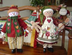 Bonecos Natal by Patch Retalhos, via Flickr