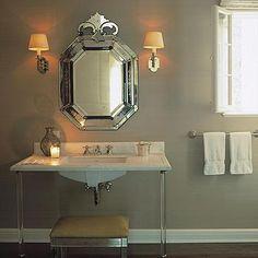 Mirrored Bench, French, bathroom, Ferguson and Shamamian
