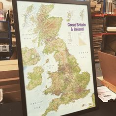 One of our new range of Map Pinboards. Made to order at iPosters. #posters #maps  #uk #pinboard