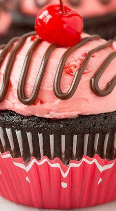Cherry Cordial Chocolate Cupcakes