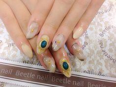 Nail Art - Beetle Nail : 八日市arte|大理石ネイル♡