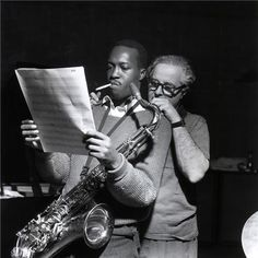 Hank Mobley and Blue Note owner-producer Alfred Lion