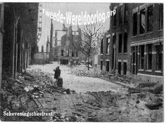 WW2 in the Netherlands - Rotterdam May 14th 1940 - Scheveningsestraat.