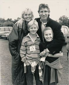 pinkfloydigan:  Roger and former wife, Lady Carolyne Christie and their children, Harry and India.