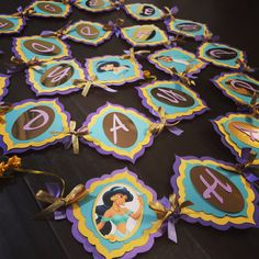 Princess Jasmine Party Banner by Maggycreations on Etsy