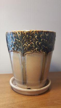 Art Nouveau Antique 1910s Majolica Ceramic Planter Beautiful Piece Vase Pottery #ArtNouveau