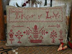 Token of Love Redwork Sampler PATTERN Paid pattern $10 on pine berry lane