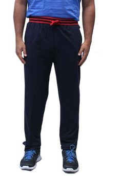 Romano Men's Fashion Blue Cotton Track Pant * Find out more about the great product at the image link.
