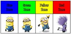 FREE Zones of Regulation, Minions, Special Education, Social Thinking, Social Work, OT, Speech