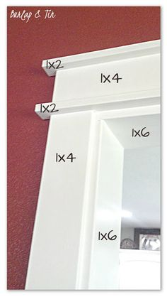 Plinth blocks, door trims, baseboards and even corbels add height, interest and a whole lot extra to your doors and windows and the overall appearance of your rooms. These little features can not only… Home Renovation, Home Remodeling, Bathroom Remodeling, Do It Yourself Design, Door Casing, Window Casing, Moldings And Trim, Crown Moldings, Archway Molding