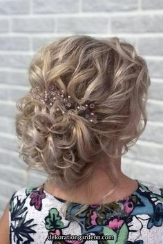 mother of the bride hairstyles elegant textured curly updo djamilya_hairstylist Mother Of The Bride Hair Short, Mother Of The Groom Hairstyles, Short Bride, Mom Hairstyles, Elegant Hairstyles, Wedding Hairstyles, Hairstyle Ideas, Mother Bride, Bridal Hairstyle