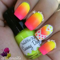 Beauty Tip: DIY Neon Nails Art / Neon Nails Art - Fereckels