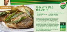 Fancy something different for dinner tonight? Luigi's Pork with Sage and Apples should hit the spot!