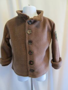 Comfy boys fleece jacket and stylish too 2T by KnotandSew on Etsy, $26.00