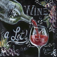 Chalkboard Wine I by Tre Sorelle Studios