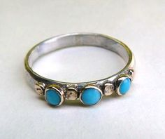 Hey, I found this really awesome Etsy listing at https://www.etsy.com/listing/115325457/blue-turquoise-ring-silver-ring-and-14k