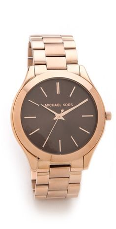 kors. love the black face w the rose gold!