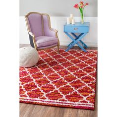 Add texture and comfort to your bare floors with this beautiful shag area rug. Plush and soft, this shag rug will enhance any decor.
