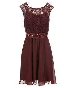 Lace Bodice Jewel Dress, Chokecherry #rickis #fall2016 #fall #fallfashion…