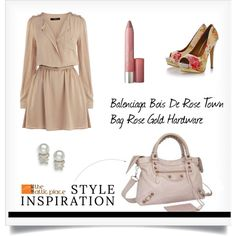 ::STYLE INSPIRATION – Balenciaga Bois De Rose Town Bag Rose Gold Hardware:: by the-attic-place on Polyvore