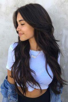 Long Wigs Lace Hair Frontal Beautiful Long Wigs – hairstyles for long faces Long Face Hairstyles, Haircuts For Long Hair, Long Hair Cuts, Straight Hairstyles, Beautiful Hairstyles, Layers For Long Hair, Dark Brown Long Hair, Easy Hairstyles, Medium Hairstyle