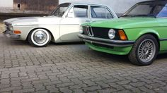 1967er Audi F103 mit Tiefgang BMW E21
