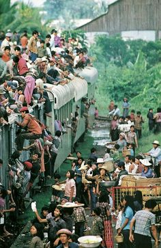 vintagenatgeographic: Traders on a Phnom Penh train, Cambodia National Geographic | May 1982