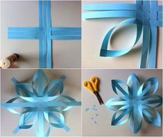 Christmas Decorations: Easy paper stars: These homemade Christmas ornaments bring me much attention. These paper stars are very easy to make with paper, glue and scissors, which can also serve to recycle scraps of wrapping paper or colored pages that you Kids Crafts, Diy And Crafts, Paper Crafts, Paper Glue, Diy Paper, Door Crafts, Recycled Crafts, Recycled Materials, Homemade Christmas