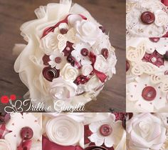 Bouquet sposa alternativo bianco, marsala e bordeaux.Ideale per un matrimonio autunnale! Bridal bouquet white and marsala for a fall wedding. Vuoi anche tu un bouquet così? Vai su: www.trilliegingilli.com Bouquet sposa settembre bianco bordeaux e marsala