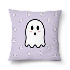 Almofada Miss Boo - II | Desenho/Estampa de @danistarart | A venda na @colab55 | #funny #fun #divertido #fantasma #fantasminha #ghost #boo #buu #geek #almofada #pillow #decoração #desenho #anime #estampa #pattern
