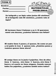 Cuaderno de problemas para Primero de Primaria | Matemáticas ...