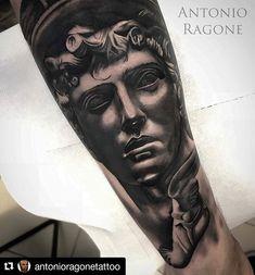 "DeLight Tattoo Needles on Instagram: ""Thanks to Antonio Ragone' support! ☆ @sphynx_tattoo_supply #Repost @antonioragonetattoo (@get_repost) ・・・ Hermes"" Sponsored…"" Hermes Tattoo, Tattoo Needles, Tattoo Supplies, Sphynx, Sleeve Tattoos, Portrait, Instagram, Ideas, Tattoo Sleeves"