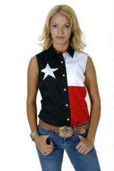 Women's Navy Roper Texas Pieced Flag Texas Collection Western Clothing