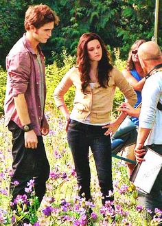 #Twilight -- Rob and Kris with director David Slade on Eclipse set