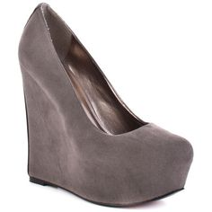 LUICHINY : SUR FER WEDGE - GREY SUEDE $89.99