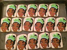 Princess Tiana cookies