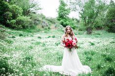 bohemian romance bride