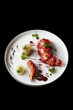 Homard, topinambours de Christophe Saintagne du restaurant Le Meurice