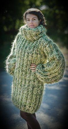 687541de8d20cf Stricken, Mohair-pullover, Rollkragenpullover, Grob Strickjacken, Pullover  Outfits, Von Hand