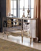 Mirrored Furniture In Living Room. Mirrored Furniture In Living Room. Jerilynn Mirrored Buffet In 2020 Mirror Buffet, Buffet Console, Deco Rose, Sweet Home, Mirrored Furniture, Mirrored Sideboard, Glass Furniture, Mirrored Table, Credenza