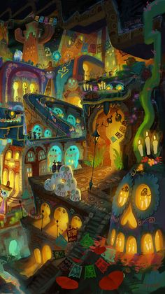 """""""You see these colors, this beauty, this magical power that Mexican art has, and the eclecticism of the culture is so strong,"""" - Guillermo Del Toro. The Book of Life 