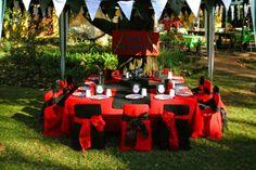 Pirates kids table setting.