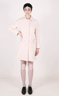 such a sweet dusty pink coat from Vivetta with delicate little kitten pockets