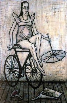 El circo: acróbata en bicicleta, 1955 - Bernard Buffet