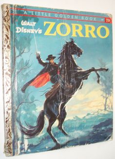 LITTLE GOLDEN BOOK WALT DISNEY'S ZORRO 1958