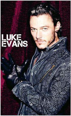 Luke Evans one good looking chiseled man