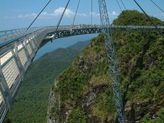 A bridge in Pulau Langkawi, Malaysia. Looks scary than interesting.