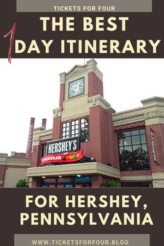 The Best 1 Day Itinerary for Hershey, Pennsylvania:Where is the sweetest place on earth? Well its located right in Hershey, Pennsylvania. Hershey's Park admission tickets includes access to three major parks with one ticket price; Boardwalk, Zoo America, and Hershey Park. With things to do for the whole family it is easy to see why this is the sweetest place on earth. #ChocolateWorld #HersheyPennsylvania #WhattodoinHersheyPennsylvania #HersheyPark #WhattodoinHersheyPark Canada Travel, Usa Travel, Travel With Kids, Family Travel, Central America, North America, Travel Guides, Travel Tips, Hershey Pennsylvania