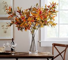 Turning Leaf Branch #potterybarn. Holiday DecoratingDecorating IdeasFall ... & 128 best Decorate Your Home for Fall images on Pinterest | Table ...